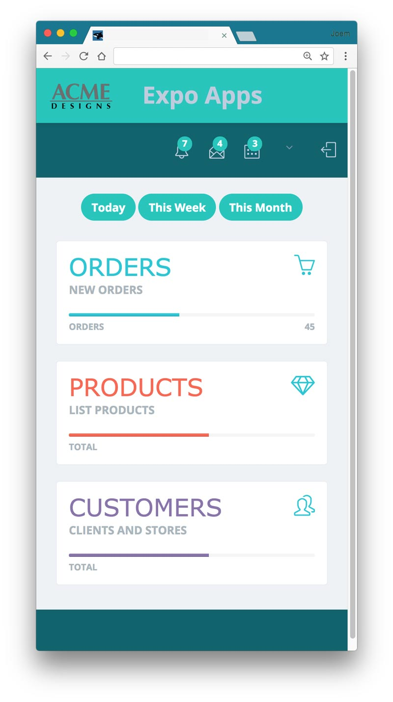 Acme Designs - WebApps for manufacturing and wholesaler retail
