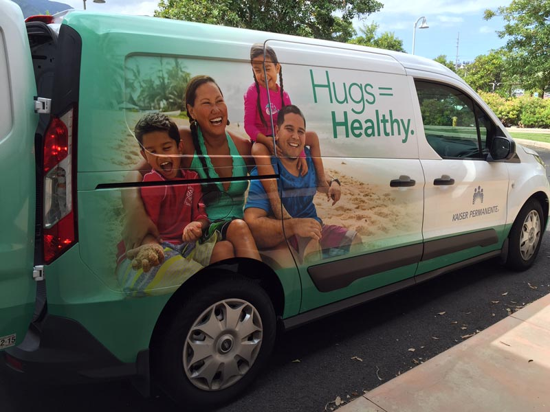 Kaiser Permannente van on Maui - Brand Photography
