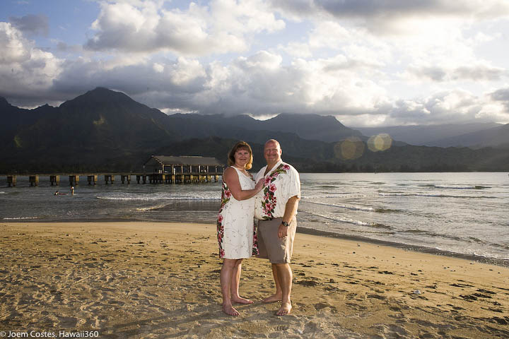 Jay and Pam, North Shore, Kauai, Hanalei, Hawaii, beach wedding