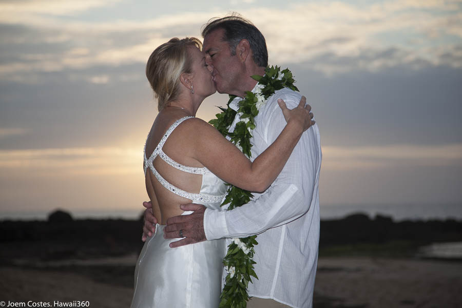 Shawn and Pamela, North Shore, Oahu, Hawaii, beach wedding