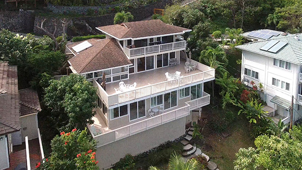 Lanikai hillside home with fabulous turquoise ocean and Mokulua Island views. Property video made to sell and showcase your home.